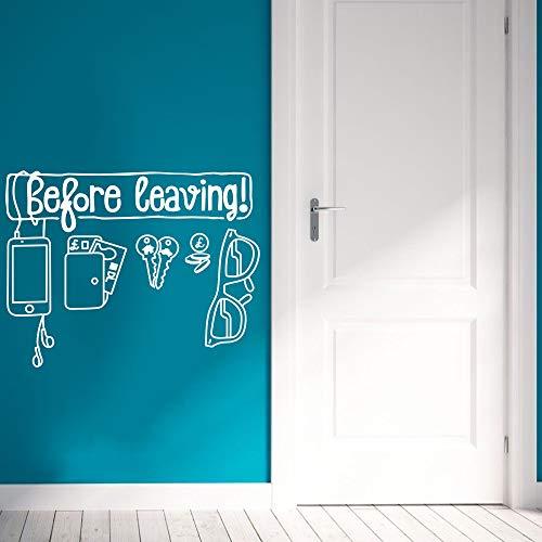 Wandtattoo Vinyl Aufkleber Vor Ihrem Urlaub Art Home Decoartion Brille Schlüssel Kreative Tür Design Wandbild Poster Abnehmbare 57 * 43 cm