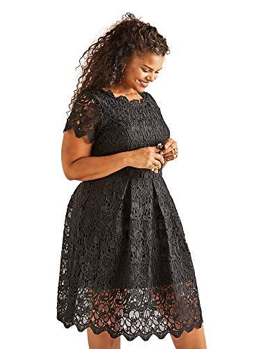 Yumi Curves Guipure Lace Dress Scalloped Lace Dress