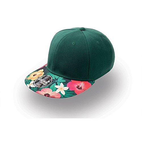 Cap Snapbackcap Snap Flower Basecap (One Size - grün ) Flower Patch Snap