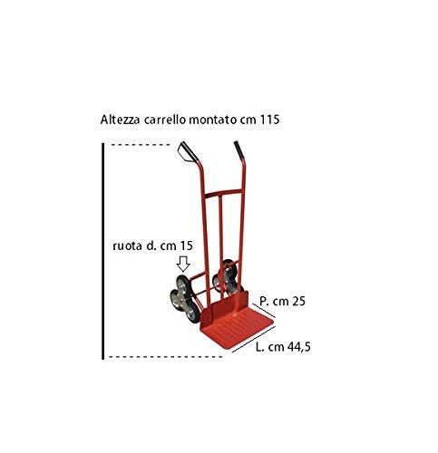 CARRELLO PORTACASSE A 3 RUOTE X SCALE KG.200