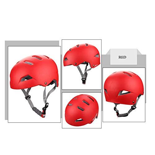 MAKE FINE Fahrradhelm CE-Zertifizierung Radfahren Offroad Stoßdämpfenden Helm Skateboard/Elektroauto/Klettern/Klettern/Driften Schutzhelm Unisex,Rot,L