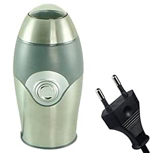 Kabalo UE alimentés par secteur Argent / gris métal Moulin à café électrique Grinder 150W, 70g (10 tasses) capacité! [EU PLUG Silver / Grey Metal Electric Coffee Bean, Nuts, Spices and Grains Grinder 150W, 70g (10 cup) capacity!]
