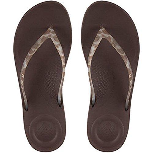 FitFlop Women's iQUSHION Ergonomic Flip Flops - Chocolate, Brown, 3 UK (Chocolate Brown-sandalen)