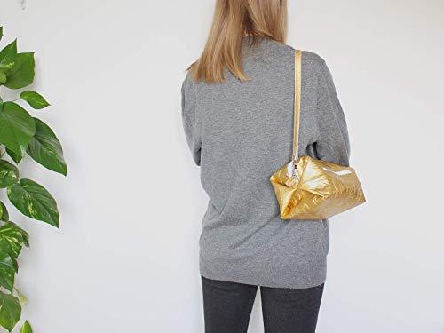 Goldene Tasche aus Piñatex® - vegane Ananasfaser - 2