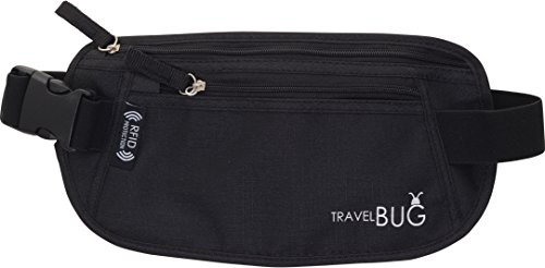 Money-Belt-WalletHidden-PouchBumbag-With-Built-In-RFID-Protection-Providing-Safe-Travel-and-Security-Against-Identity-Theft-Includes-3-BONUS-RFID-Sleeves-A-Key-Travel-Accessory-Essential