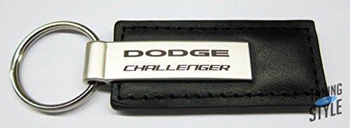 Dodge Challenger Schwarz Leder Schlüsselanhänger, offizielles Lizenzprodukt