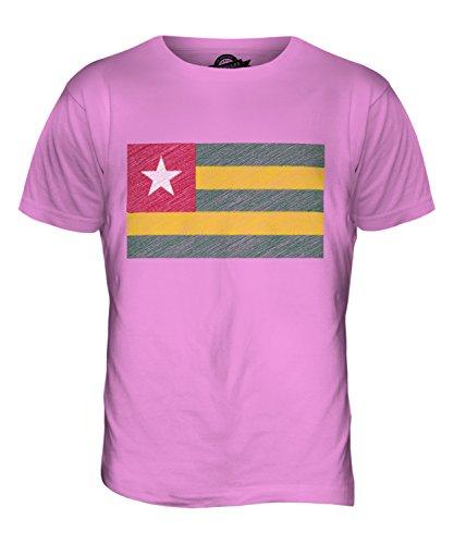 CandyMix Togo Kritzelte Flagge Herren T Shirt Rosa