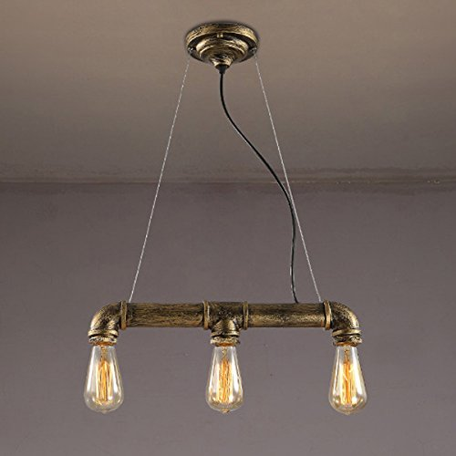 BAYCHEER Suspension Chandelier en Métal Lampe Style Rétro Industriel avec 3 Douille