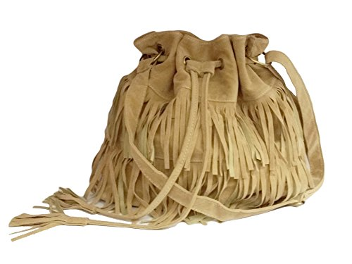 La Loria Damen Fransen Beutel Handtasche