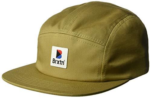 Brixton Herren Stowell Low Profile Adjustable Snapback Hat Baseball Cap, Dunkles kaki, Einheitsgröße Low Profile 5-panel -