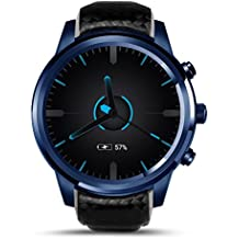 Orologio intelligente Lemfo LEM5Pro Android 5.1Bluetooth impermeabile IP55Life ROM 16GB cardiofrequenzimetro contapassi Tracker per Android iOS iPhone touch screen Smartwatch telefono cellulare 3G WiFi GPS SIM Card