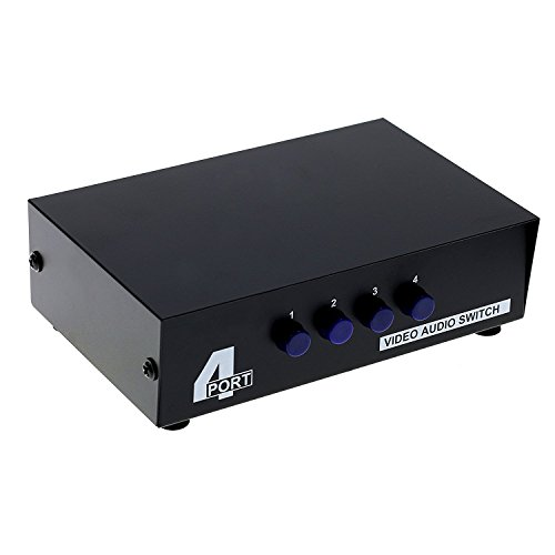 LEAGY 4 Port Video Audio AV Switch - 4 Eingang 1 Ausgang - 4 DVD an 1 TV - Standard RCA Stecker Av 4 Eingang-audio-video