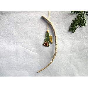Christbaum-Anhänger aus Keramik mit Treibholz, Fenster-Deko, weihnachtlicher Fensterschmuck mit Schwemmholz, Türkranz, Deko Weihnachten, Wohn-Deko, Weihnachtsschmuck, Wand-Deko