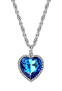 Ananth Jewels Swarovski Elements Blue crystal Pendant  For Women