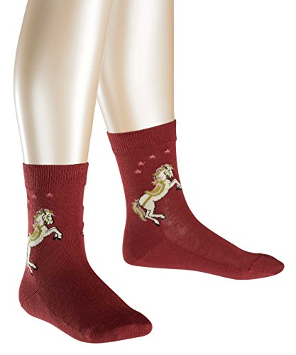 FALKE Mädchen Socken Horse, Gr. 23-26, Rot (maroon 8102)