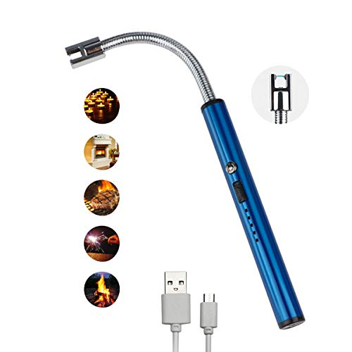 G-TASTE Accendino Elettrico USB Portabile ccendino ad Arco Elettrico Adatto per Home&Outdoor BBQ Campeggio, Antivento Senza Fiamma e Odore
