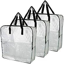 IKEA DIMPA 3 Bolsas de Almacenamiento extragrandes, Bolsas de Almacenamiento Transparentes, Resistentes, protección