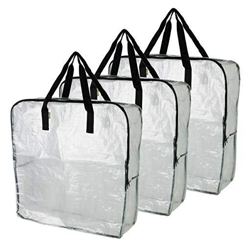IKEA DIMPA 3PCS Extra große Aufbewahrungstasche, Klar Schwere Taschen, Moth und Feuchtigkeit Schutz Speicher Taschen