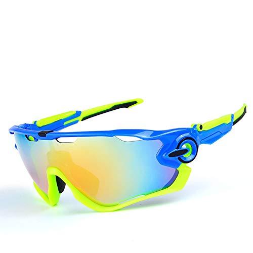 YiWu 9270 Sonnenbrille Fünfteilige polarisierte Outdoor-Reitbrille mit Antibeschlag-Schutzbrille (Color : 4)