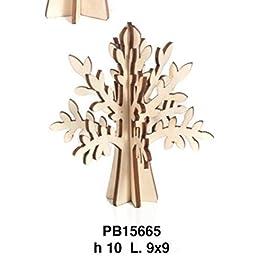24 PEZZI Albero della vita in legno NATURALE componibile da 10 cm BOMBONIERA