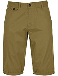 Mens Kangol Casual Cotton Chino Roll Up Shorts