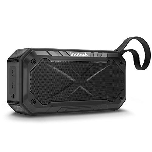 Inateck Tragbarer Lautsprecher Bluetooth Outdoor, IPX7 Wasserdicht, bis zu 20h Betriebsdauer, Bluetooth 4.0, Outdoor/Reise Kabelloser-Lautsprecher für iPhone, iPad, Android (BP1008)