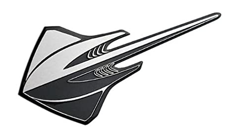 Silver Black STINGRAY Real Aluminum Auto EMBLEM Badge Nameplate for Chevrolet Chevy Corvette Vette C3 C4 C5 C6 C7 1991 1992 1993 1994 1995 1996 1997 1998 1999 2000 2001 2002 2003 2004 2005 2006 2007 2008 2009 2010 2011 2012 2013 2014 Brand New Design