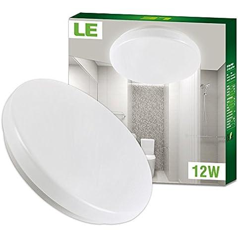 LE Plafón LED IP44 Baños y cocinas Blanco frío 12W ~ 22W Fluorescente, 950lm, Ø28cm, Resistente al agua