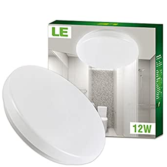 Le plafonnier led 12w lampe de plafond imperm able ip44 for Lampe plafond salle de bain