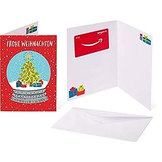 Amazon.de Geschenkkarte in Grußkarte - 50 EUR (Schneekugel)