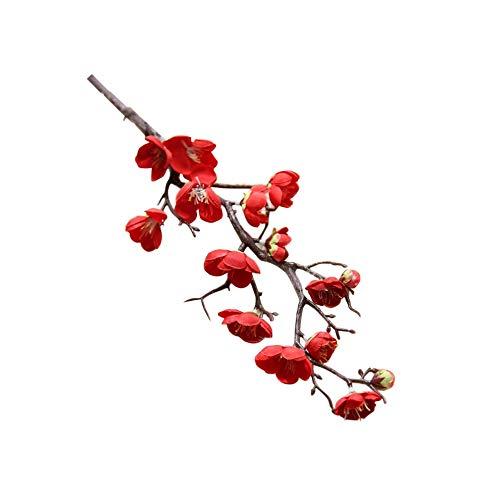 flower Künstliche Blumen Frühling Plum Peach Blossom AST 60CM Silk Blume Baum Blütenknospe für Hochzeitsfest Dekors, As Bild2 ()