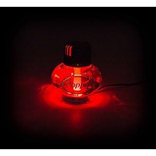 Lufterfrischer Poppy mit LED Beleuchtung 24V in rot oder weiß, Inhalt 150 ml, lieferbar in 5 Duftnoten (Rot Duft Zitrone)