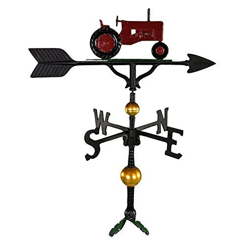 Montague Metall Produkte 32Deluxe Wetterfahne mit Rot Traktor Ornament von Montague Metall Produkte