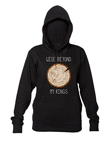 Wise Beyond My Rings Wood Log Women's Hooded Sweatshirt