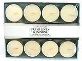 Laura Ashley Teelichter, Duft Fresh Linen & Jasmin, Cremefarben, 12 Stück