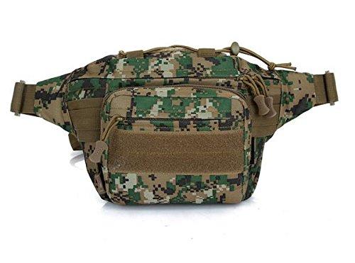 Zll/Herren und Frauen Fan Kleine Taschen Taschen abnehmbarer Combo Sport Tactical Tasche Running Pakete Jungle-Grün
