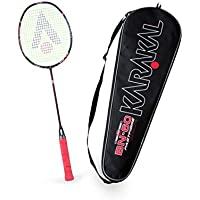 KARAKAL - Badmintonschläger BN 60 - das leichteste Badmintonracket der Welt aus 100% Fast Fibre Graphite - inklusive Fullsize Cover