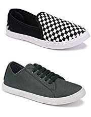 JIANSH and Comfortable Combo of 2 Shoes for Girls Latest Casual Sneakers for Girls