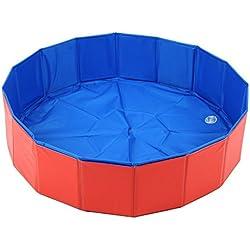 Lalawow Perro Plegable Piscina para niños Con Perrito del baño de Hidromasaje (S/60x20cm)