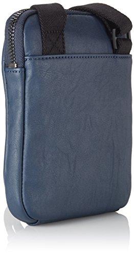 Calvin Klein Asher Mini Flat Crossover, Borsa Uomo Blu (Blues 411)