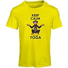 N4271F Camiseta mujer Keep Calm and make Yoga