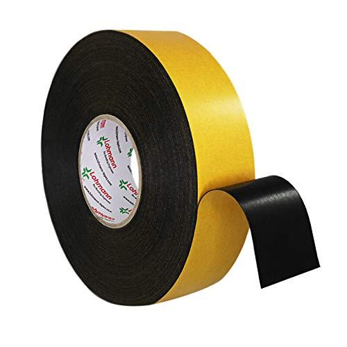 Duplocoll 5016 doppelseitiges Schaumklebeband schwarz 0,5 mm dick, 50 mm x 50 m