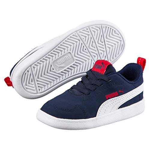 Puma Unisex-Kinder Courtflex Inf Sneaker, Blau (Peacoat White), 20 EU - Schuhe Jungen Puma