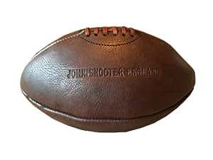 john shooter ballon de rugby vintage en cuir de vache coup et cousu la main. Black Bedroom Furniture Sets. Home Design Ideas
