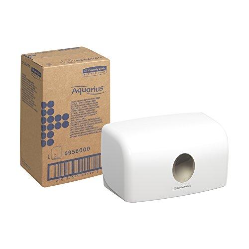 Aquarius 6956 - Dispensador de toallas secamanos, tamaño pequeño, blanco