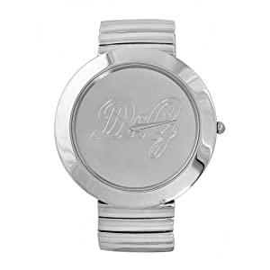 D&G Dolce&Gabbana DW0280 – Reloj analógico de mujer de cuarzo con correa de acero inoxidable plateada – sumergible a 30 metros