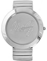 38267ff7c4f9 D G Dolce Gabbana DW0280 - Reloj analógico de mujer de cuarzo con correa de  acero inoxidable plateada