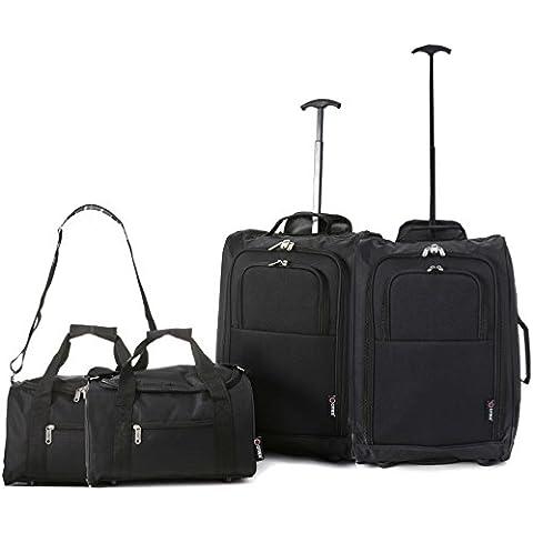 Set di 4 - 2x Ryanair Cabin Approvato 55x40x20 cm e 2x Seconda 35x20x20 bagaglio a mano Set - vai avanti Entrambi gli articoli!