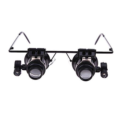 highplus Lupe Brille Type mit LED 20x Lupe Reparatur Mikroskop
