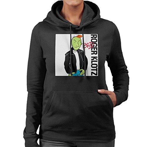 Doug Roger Klotz Michael Jackson Bad Album Cover Women's Hooded Sweatshirt